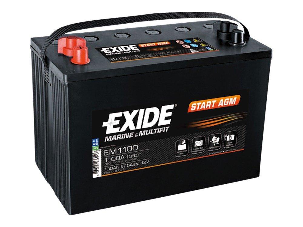 battery 12v 100ah exide start agm em1100 akumulatory special batteries exide exide. Black Bedroom Furniture Sets. Home Design Ideas