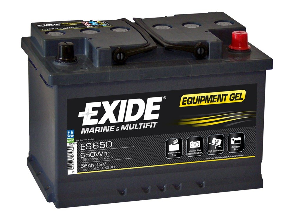 battery 12v 56ah exide equipment gel es650 akumulatory. Black Bedroom Furniture Sets. Home Design Ideas