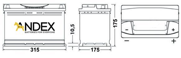 Wymiary akumulatora Centra Voltmaster 80Ah