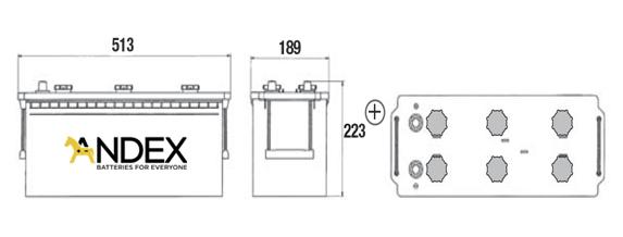 Wymiary akumulatora Exide Professional EG1403