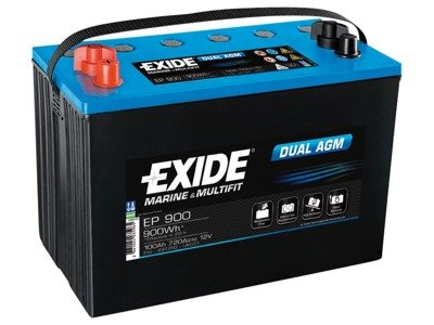 Battery 12V 100Ah EXIDE DUAL AGM EP900