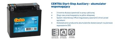 Battery 12V  11Ah CENTRA START-STOP AGM AUXILIARY CK111