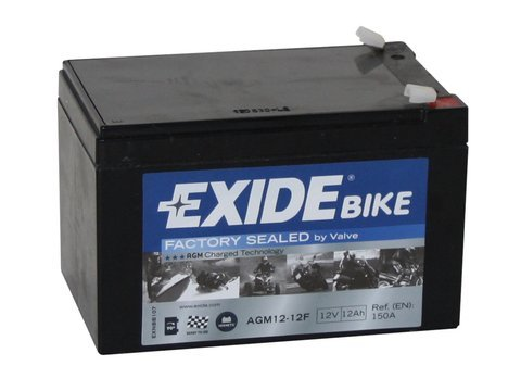 Battery 12V  12Ah AGM12-12F EXIDE