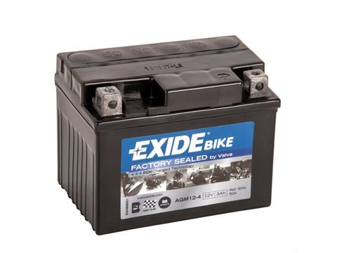 Battery 12V  3Ah AGM12-4 EXIDE