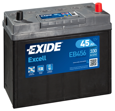 Battery 12V  45Ah EXIDE EXCELL EB456