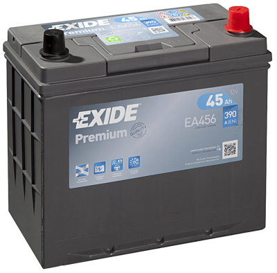 Battery 12V 45Ah EXIDE PREMIUM CARBON BOOST EA456