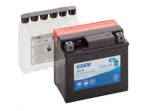 Battery 12V   4Ah YTX5L-BS EXIDE