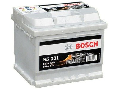 Battery 12V  52Ah S5001 BOSCH S5