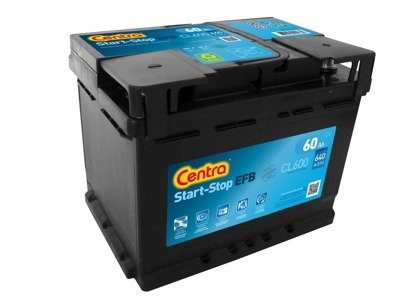 Battery 12V  60Ah CENTRA START-STOP EFB CL600