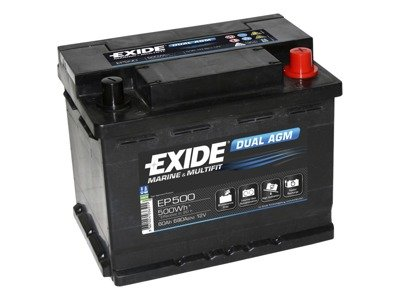 Battery 12V 60Ah EXIDE DUAL AGM EP500
