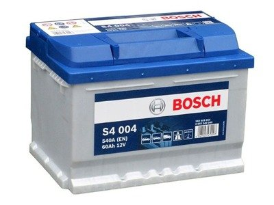 battery 12v 60ah s4004 bosch s4 akumulatory car batteries bosch bosch s4. Black Bedroom Furniture Sets. Home Design Ideas
