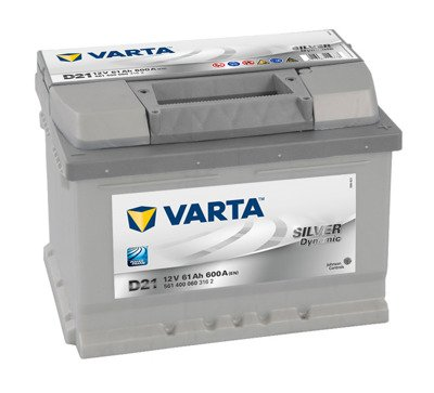 Battery 12V  61Ah D21 VARTA Silver