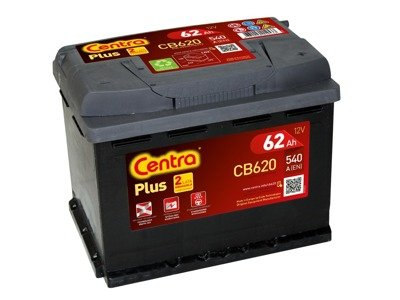 Battery 12V  62Ah CENTRA PLUS CB620