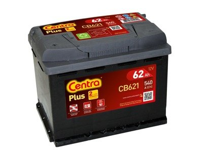 Battery 12V  62Ah CENTRA PLUS CB621