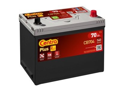 Battery 12V  70Ah CENTRA PLUS CB704
