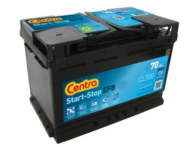 Battery 12V  70Ah CENTRA START-STOP EFB CL700