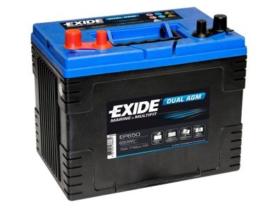 Battery 12V  70Ah EXIDE DUAL AGM EP600