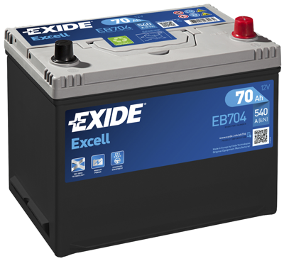 Battery 12V  70Ah EXIDE EXCELL EB704