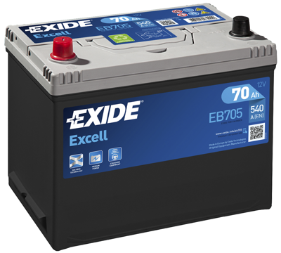 Battery 12V  70Ah EXIDE EXCELL EB705