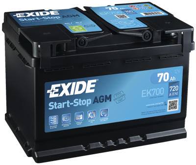 Battery 12V  70Ah EXIDE START-STOP AGM EK700
