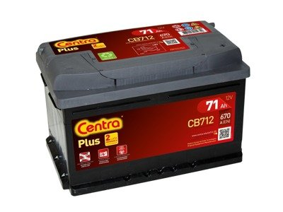 Battery 12V  71Ah CENTRA PLUS CB712