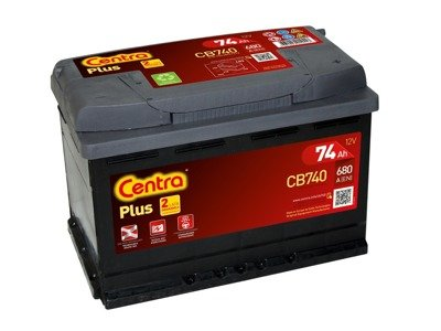 Battery 12V  74Ah CENTRA PLUS CB740