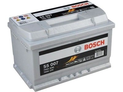 Battery 12V  74Ah S5007 BOSCH S5