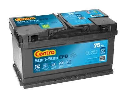 Battery 12V  75Ah CENTRA START-STOP EFB CL752