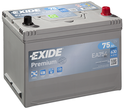 Battery 12V  75Ah EXIDE PREMIUM CARBON BOOST EA754