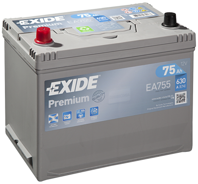 Battery 12V  75Ah EXIDE PREMIUM CARBON BOOST EA755