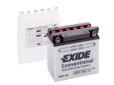 Battery 12V   7Ah 12N7-3B EXIDE