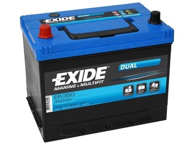 Battery 12V  80Ah EXIDE DUAL ER350