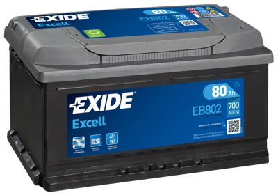Battery 12V  80Ah EXIDE EXCELL EB802