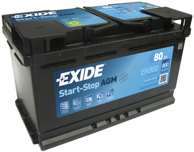 Battery 12V  80Ah EXIDE START-STOP AGM EK800