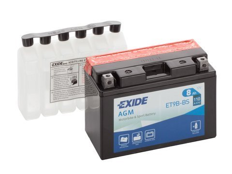 Battery 12V   8Ah YT9B-BS EXIDE