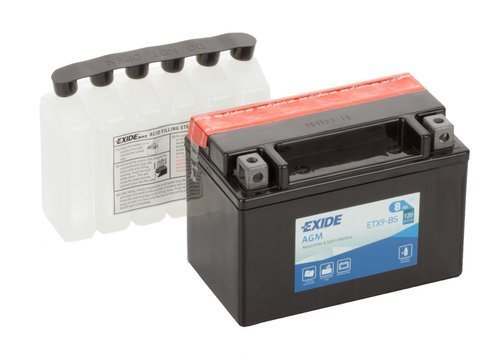 Battery 12V   8Ah YTX9-BS EXIDE