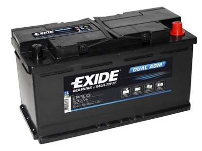 Battery 12V  92Ah EXIDE DUAL AGM EP800