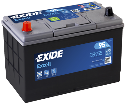 Battery 12V  95Ah EXIDE EXCELL EB955