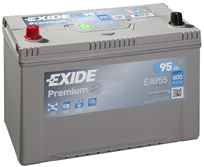 Battery 12V 95Ah EXIDE PREMIUM CARBON BOOST EA955