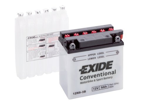 Battery 12V   9Ah 12N9-3B EXIDE