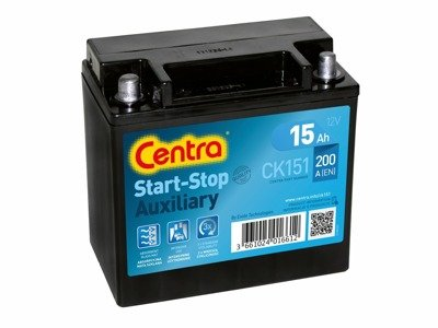 Battery  15Ah CENTRA START-STOP AUXILIARY CK151