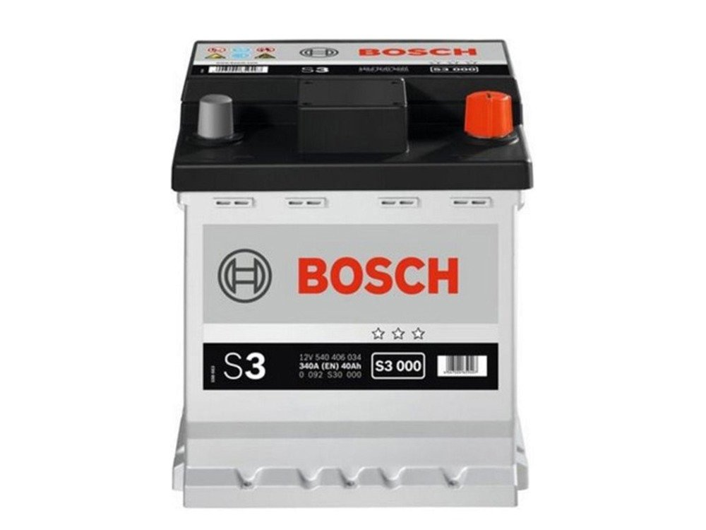 battery 12v 40ah bosch s3 s3000 akumulatory car batteries bosch bosch s3. Black Bedroom Furniture Sets. Home Design Ideas