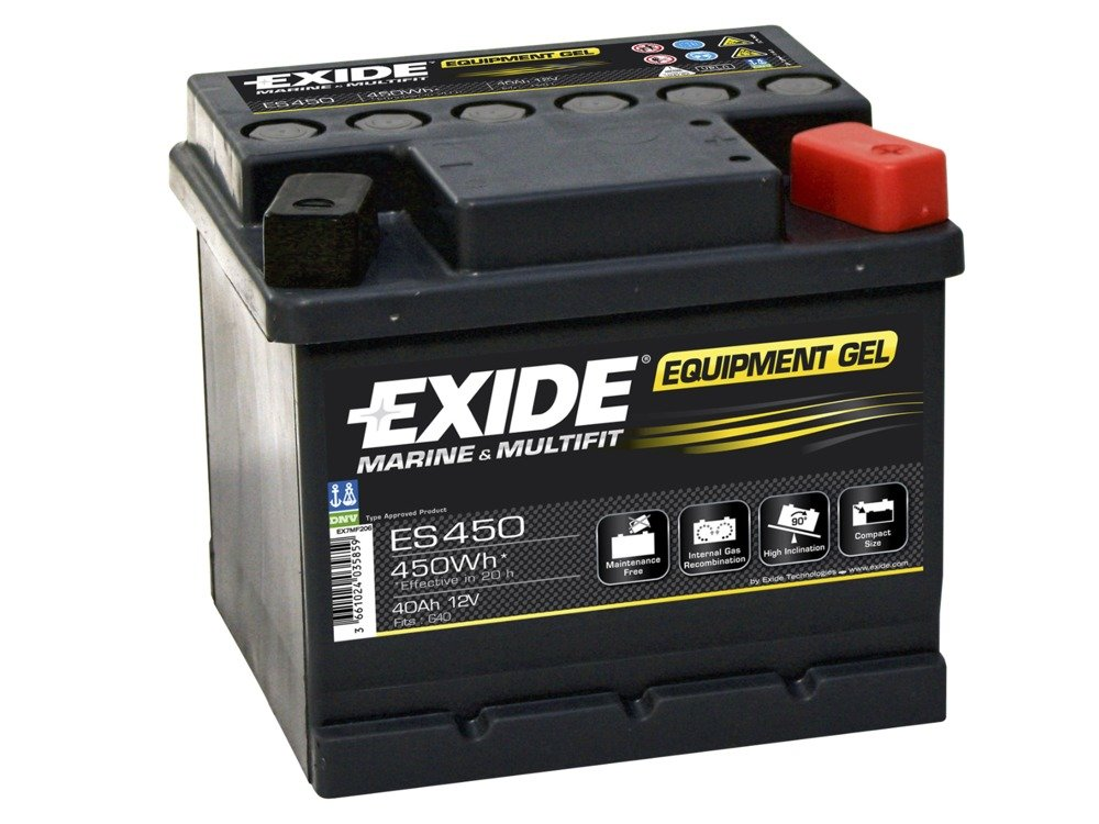 battery 12v 40ah exide equipment gel es450 akumulatory special batteries exide exide. Black Bedroom Furniture Sets. Home Design Ideas