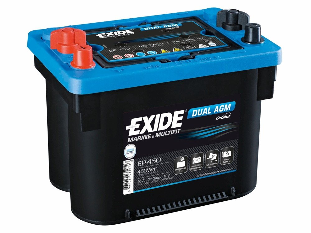 battery 12v 50ah exide dual agm ep450 akumulatory special batteries exide exide marine. Black Bedroom Furniture Sets. Home Design Ideas