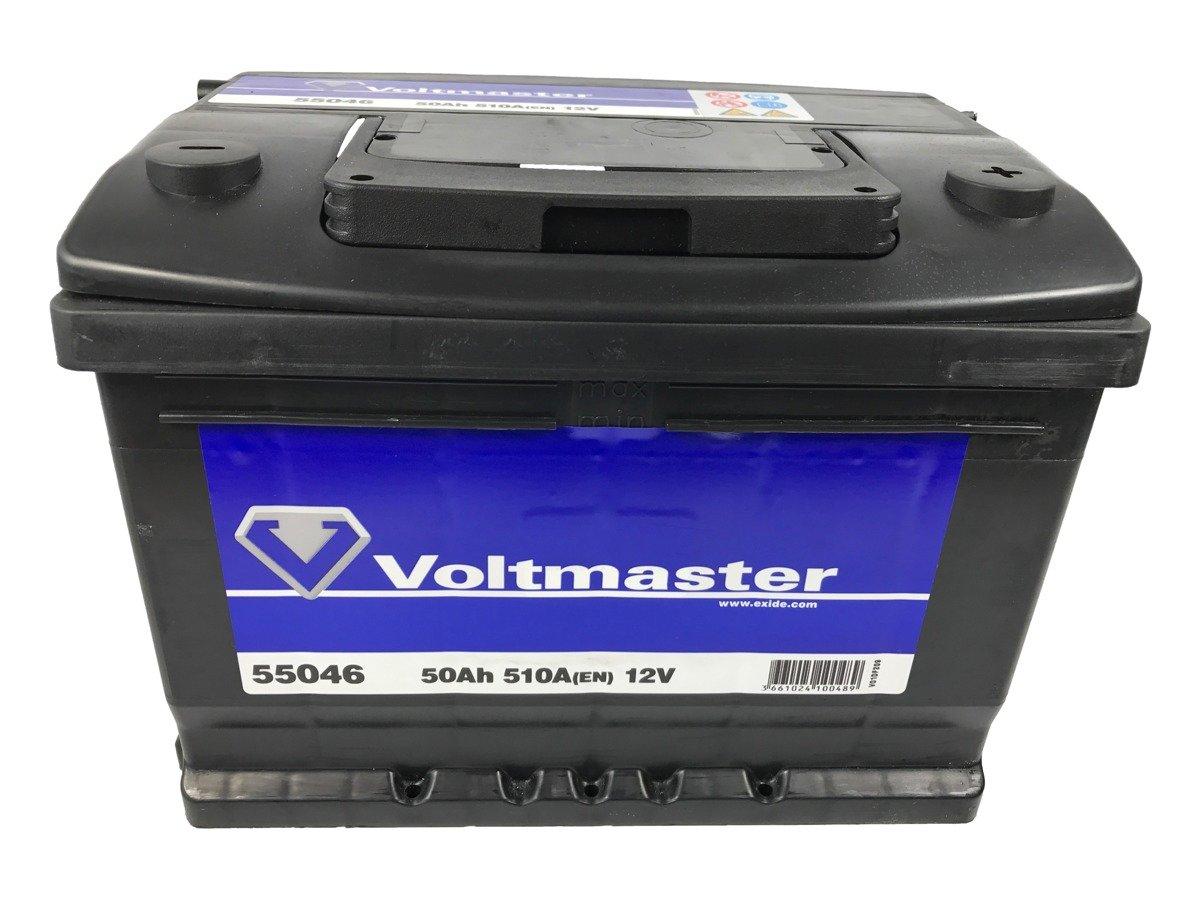 battery 12v 50ah voltmaster 55046 akumulatory car batteries voltmaster. Black Bedroom Furniture Sets. Home Design Ideas