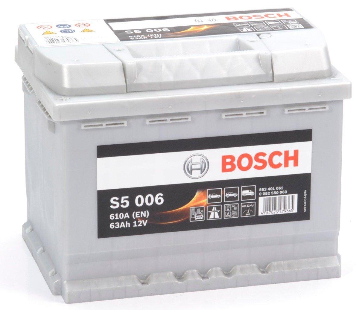 battery 12v 63ah s5006 bosch s5 akumulatory car batteries bosch bosch s5. Black Bedroom Furniture Sets. Home Design Ideas