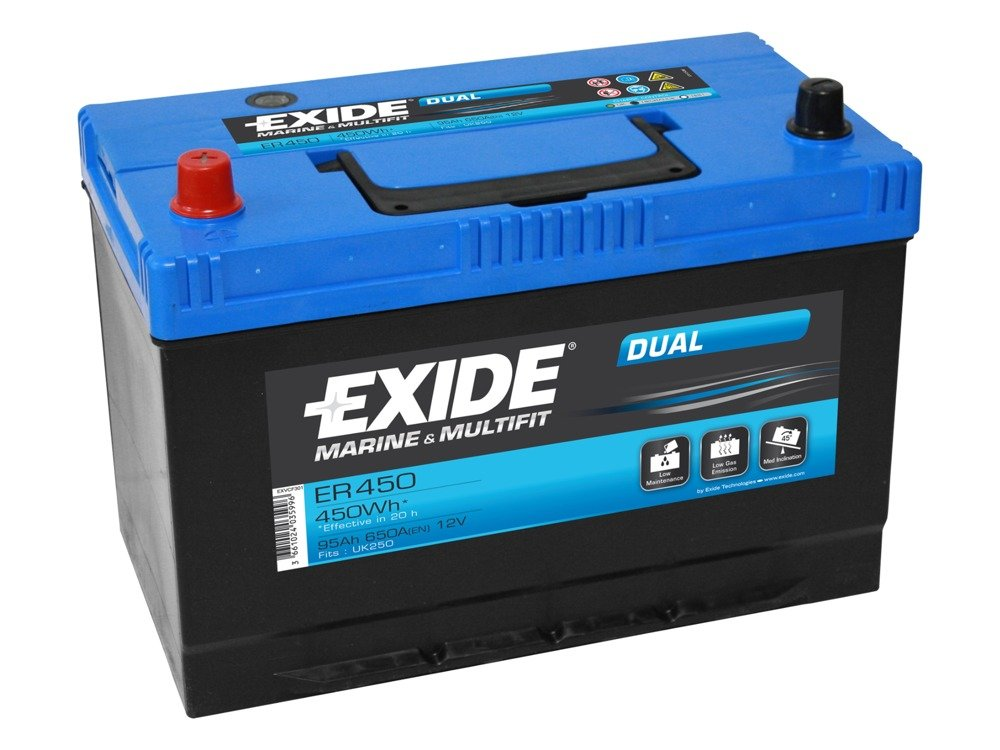 battery 12v 95ah exide dual er450 akumulatory special batteries exide exide marine. Black Bedroom Furniture Sets. Home Design Ideas