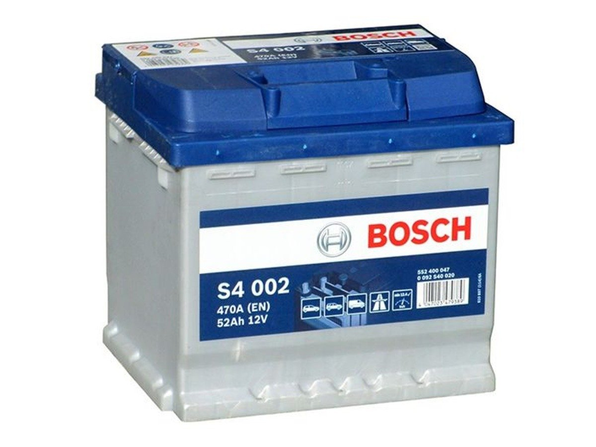 battery 12v 52ah s4002 bosch s4 akumulatory car. Black Bedroom Furniture Sets. Home Design Ideas