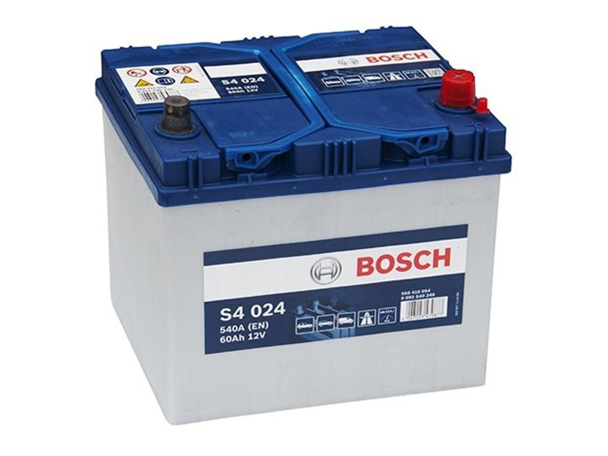 battery 12v 60ah s4024 bosch s4 akumulatory car batteries bosch bosch s4. Black Bedroom Furniture Sets. Home Design Ideas