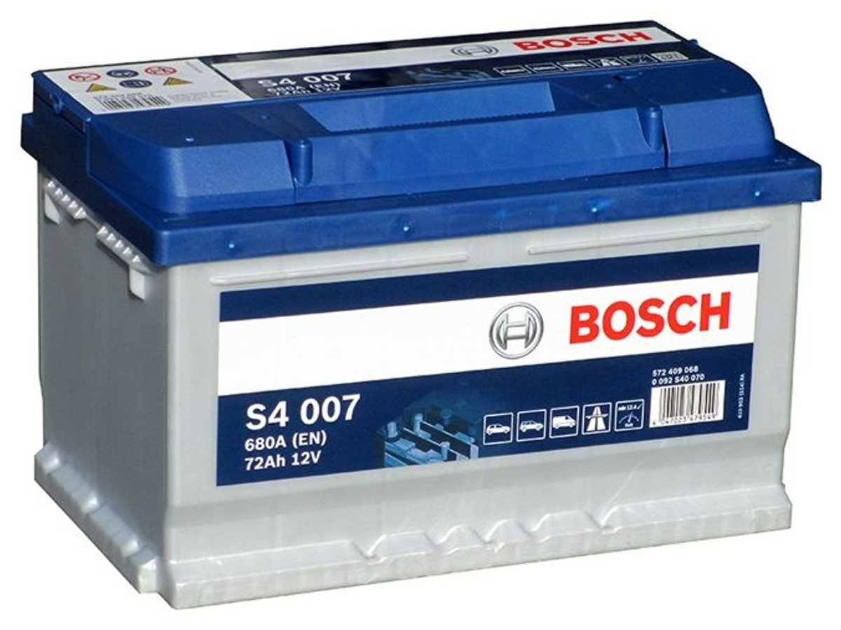 battery 12v 72ah s4007 bosch s4 akumulatory car. Black Bedroom Furniture Sets. Home Design Ideas